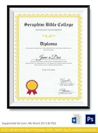 Diploma Word Template Certificate Of Achievement Template Word Free