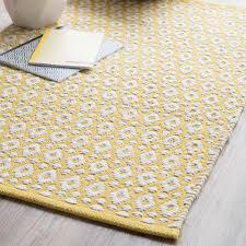 tappeto in cotone giallo 60 x 90 cm maisons du monde