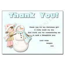 14 Building a snowman - Christmas Thank You Note