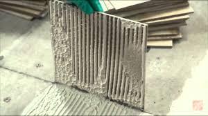 installing ceramic and porcelain floor tile step 6 test your mortar you