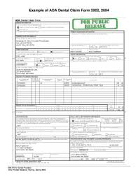 2006 ada claim form dental claim form 2002 fillable fill online printable fillable
