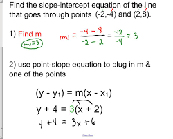 5 9 finding equation of line when given 2 points of line