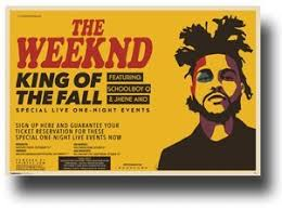 Amazon Com The Weeknd Poster 2015 Concert Tour King Of Fall 11 X