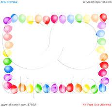 birthday balloons border clip art. Exellent Birthday Inside Birthday Balloons Border Clip Art O
