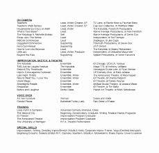 Sample Musical Theatre Resume