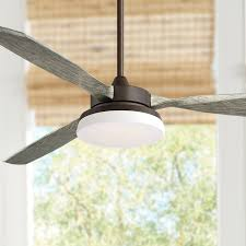 57 casa vieja rustic outdoor ceiling fan with light led dimmable remote oil rubbed bronze gray wood damp rated for patio porch com