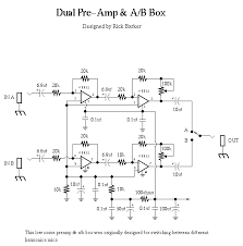 dual pre amp a b box schematic it s only rock roll but i like dual pre amp a b box schematic