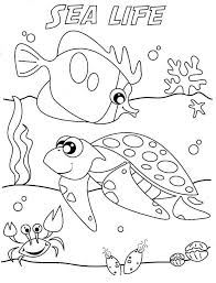 Vacation in summertime coloring page for kids, seasons. Free Printable Ocean Coloring Pages Under The Sea