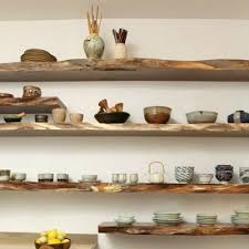 diy natural wood floating shelves