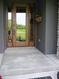 Some Front Porch Floor Ideas For Your Inspiration : Awesome Small Front  Porch Decoration Using Concrete