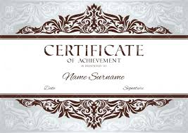 Templates For Certificates Of Completion Free Templates For Certificates Of Completion Download Certificate