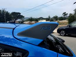 Spoiler Side Decals - fits the 2016-2018 Ford Focus RS Wing