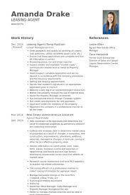 Leasing Manager Resume 13 Leasing Agent Temp Position Resume Samples