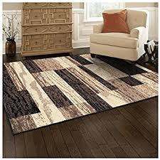 superior modern rockwood collection area rug 8mm pile height with jute backing textured geometric brick design anti static water repellent rugs
