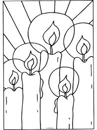 Kleurplaat Kaarsen Kerstmis Kleurplatennl