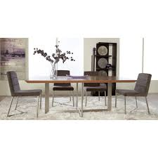 euro style tosca 5 piece walnut dining table set tosca grey chairs com