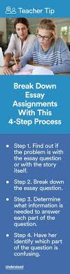analytical essay outline writing tips for students and writers  teacher tip break down essay assignments this 4 step process