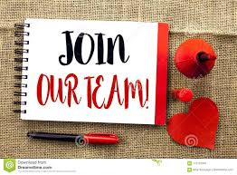 Team Get Together Invitation Handwriting Text Writing Join Our Team Motivational Call