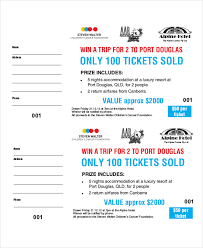 Printable Raffle Ticket Template 18 Free Word Excel Pdf