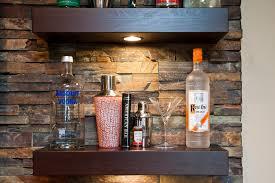 bar shelving ideas Basement Modern with bar basement basement bar