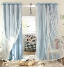 white tulle sheer and light blocking combo beautiful and so much like the waterfall look i d want layer white tulle over solid blue curtains on a curved
