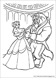 Small Picture Beauty and Beast Coloring Pages free For Kids