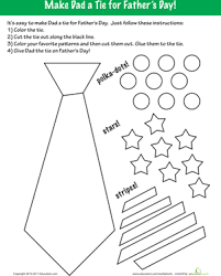 Small Picture Fathers Day Coloring Make a Tie Worksheets Dads and Father