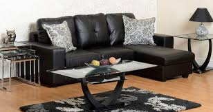 click to view full screen black leather sofa66