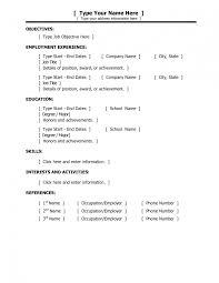 Resume Maker Template Saneme