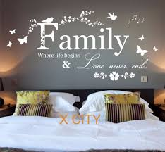 family where life begins quote words bedroom wall art sticker design of stickers for bedroom walls on wall art words for bedroom with family where life begins quote words bedroom wall art sticker design