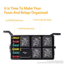 fuse relay box parts accessories auto car fuse relay holder box relay socket 6 relay 6 atc ato fuses universal