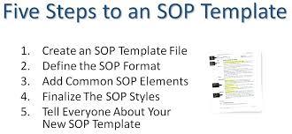standard operating procedures template word procedure format template acceptance test procedure template