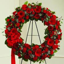 big mix flowers round shaped wreath