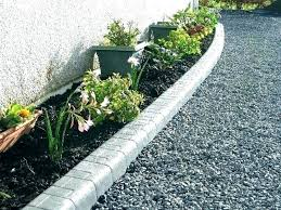 concrete edging garden bed lawn diy curbing curb repair
