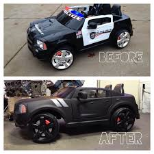 overhauled my sons powerwheels dodge charger police car into an all black beast gabrielsgraphics