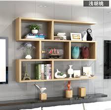modern wooden wall mount bookcase bs001