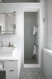 white glass bathroom tiles. Large White Glass Shower Tiles With Gray Mosaic Floor Bathroom L