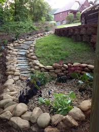 Dry Stream Garden Design The Dry Creek Bed That Ends Into A Rain Garden I Designed