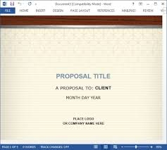 How To Create A Proposal For The Healthcare Industry Using MS Word Fascinating Proposal Template Microsoft Word