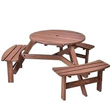 round picnic bench wooden bench table sets beautiful 6 person round picnic table set outdoor round picnic bench