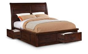 delray sleigh bed with underbed storage by thomas cole  hom furniture