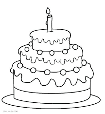 Birthday Cake For Coloring Pages Preschool Page Adults To Print
