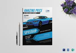 Car Sales Flyer Design Template In Word Psd Publisher