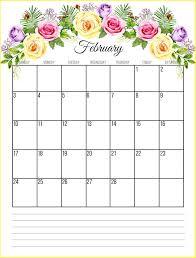 february printable calendar 2019 february 2019 floral calendar printable calendar 2019 blank