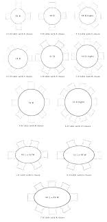 round table sizes size for 6 astounding furniture in prepare 0 home interior what seats circular