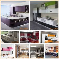 Flat Pack Kitchen Cabinets Tempered Glass Finish High Gloss Kitchen Cabinets Flat Pack