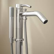 caol freestanding tub faucet with hand shower chrome