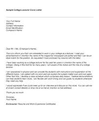 awesome collection of sample cover letter for fresher lecturer post for  your resume - Fresher Lecturer