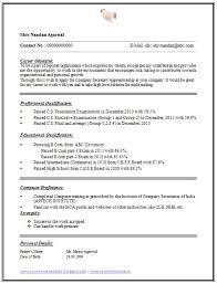 One Page Resumes Examples Over Cv And Resume Samples With Free ...
