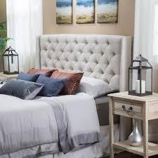 studio bedroom furniture. Allen Wingback Queen/Full Tufted Beige Fabric Headboard Studio Bedroom Furniture